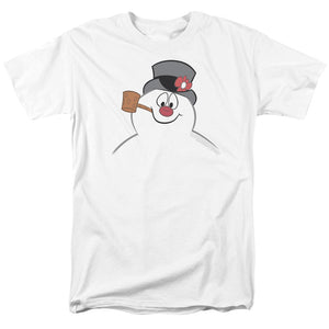 Frosty The Snowman Frosty Face Mens T Shirt White