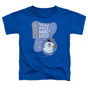 Frosty The Snowman Melt Toddler Kids Youth T Shirt Royal Blue