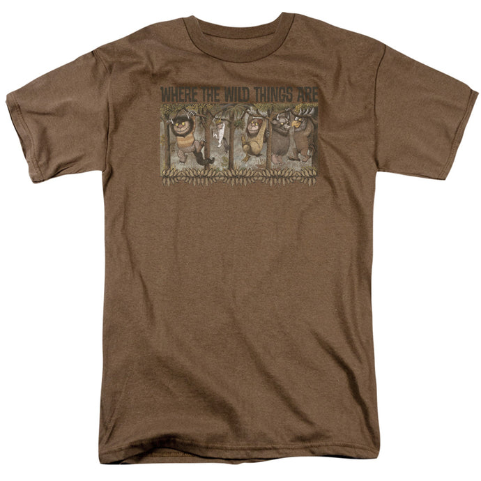 Where The Wild Things Are Hang Mens T Shirt Safari Green