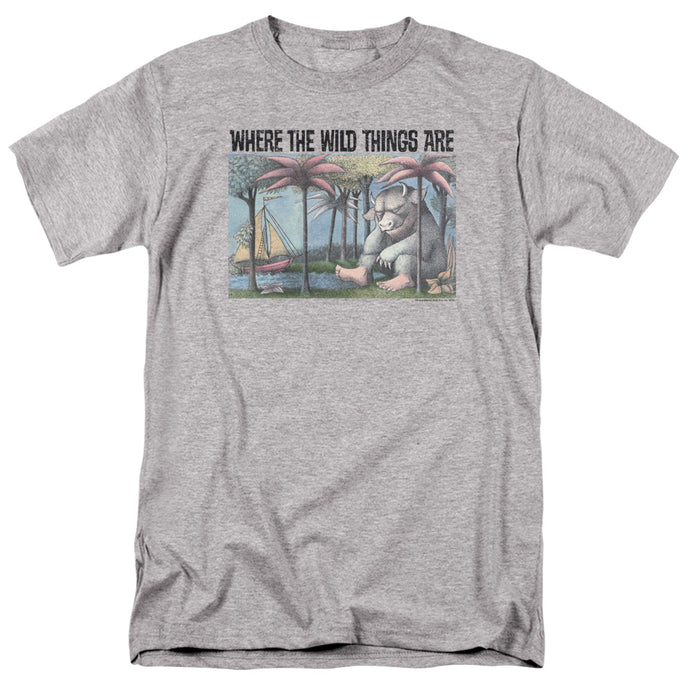 Where The Wild Things Are Cover Art Mens T Shirt Athletic Heather