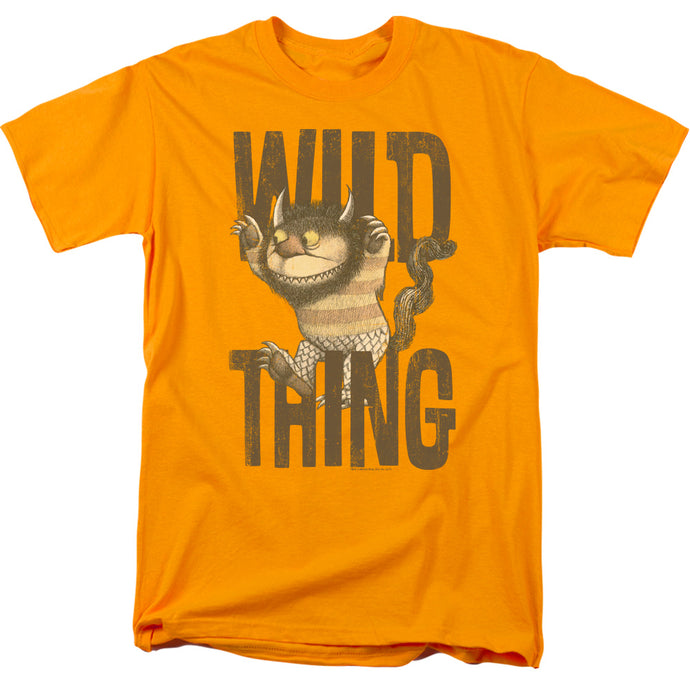 Where The Wild Things Are Wild Thing Mens T Shirt Gold