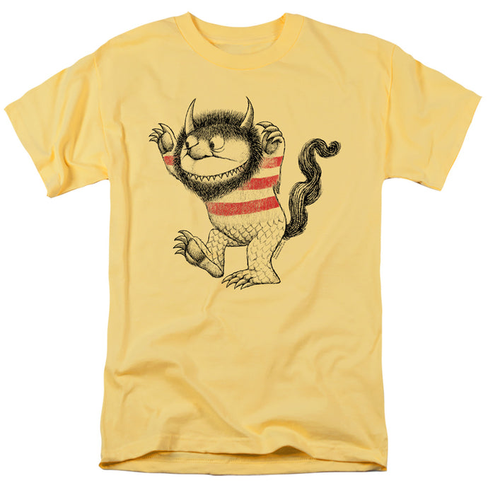 Where The Wild Things Are Line Art Mens T Shirt Banana