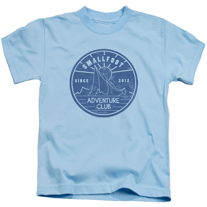 Smallfoot Adventure Club Juvenile Kids Youth T Shirt Light Blue