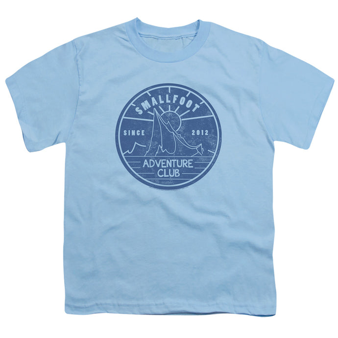Smallfoot Adventure Club Kids Youth T Shirt Light Blue