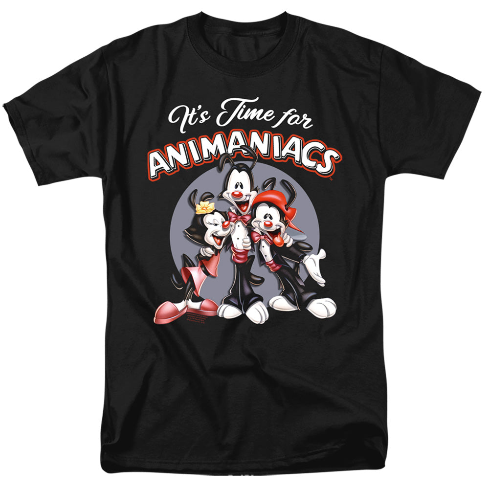 Animaniacs Its Time For Animaniacs Mens T Shirt Black