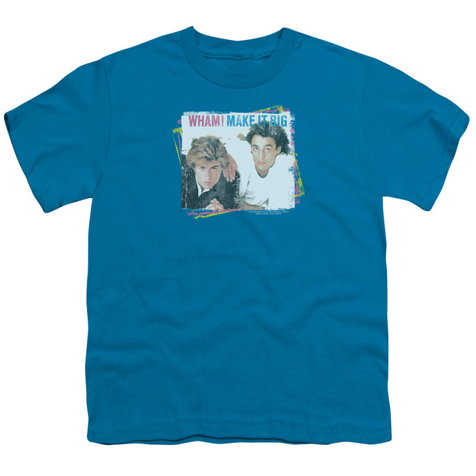 Wham! Make It Big Kids Youth T Shirt Turquoise