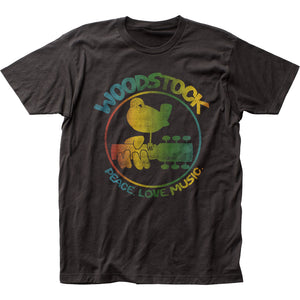 Woodstock Colorful Logo Mens T Shirt Black