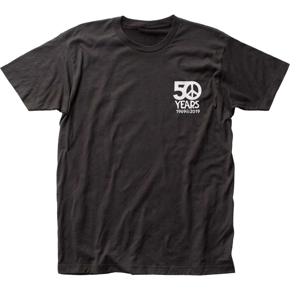 Woodstock 50 Years Mens T Shirt Black