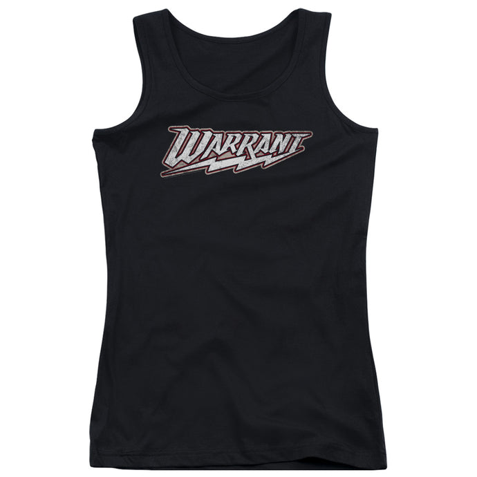 Warrant Logo Womens Tank Top Shirt Black