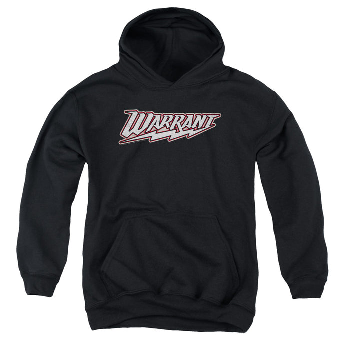 Warrant Logo Kids Youth Hoodie Black