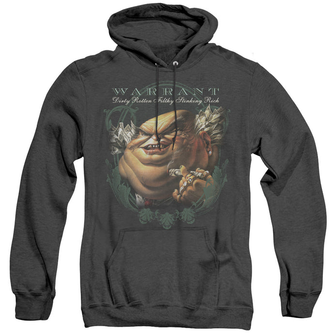 Warrant Stinking Rich Heather Mens Hoodie Black