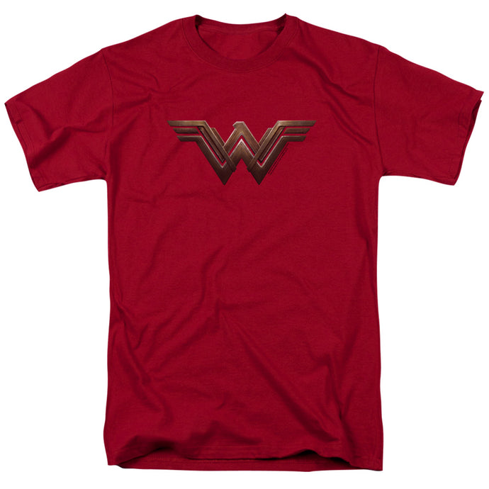 Wonder Woman Movie Wonder Woman Logo Mens T Shirt Cardinal