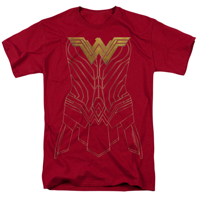 Wonder Woman Movie Armor Outline Mens T Shirt Cardinal