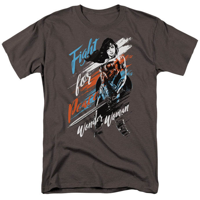 Wonder Woman Movie Fight For Peace Mens T Shirt Charcoal