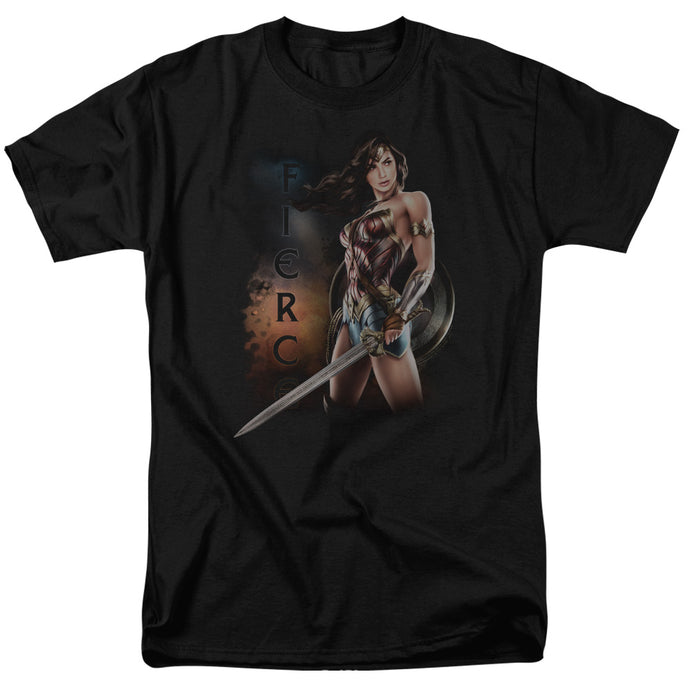 Wonder Woman Movie Fierce Mens T Shirt Black