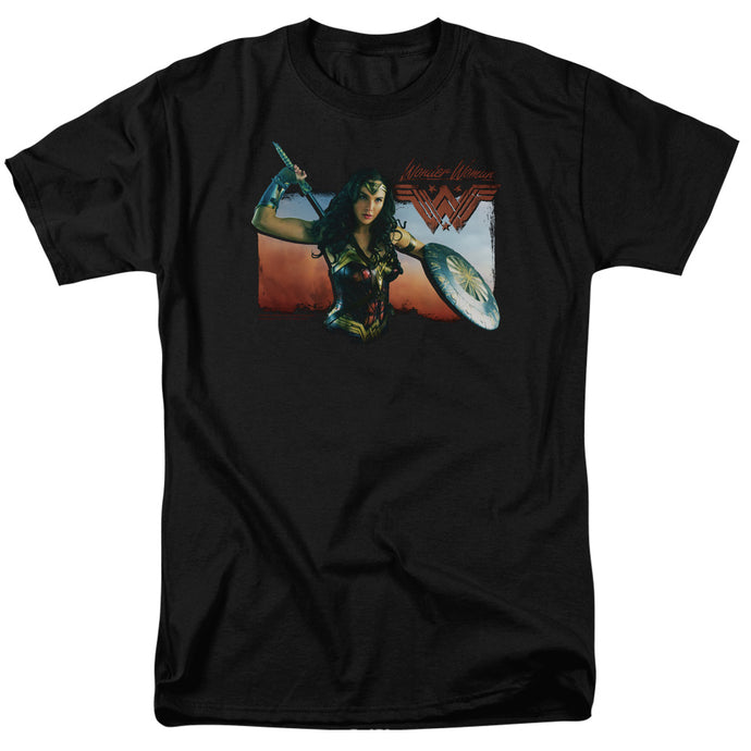 Wonder Woman Movie Warrior Woman Mens T Shirt Black