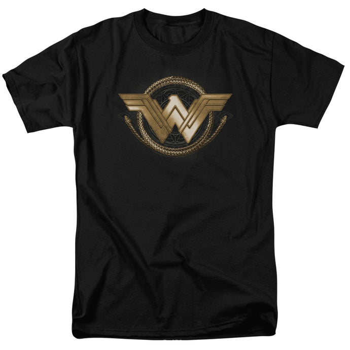 Wonder Woman Movie Lasso Logo Mens T Shirt Black