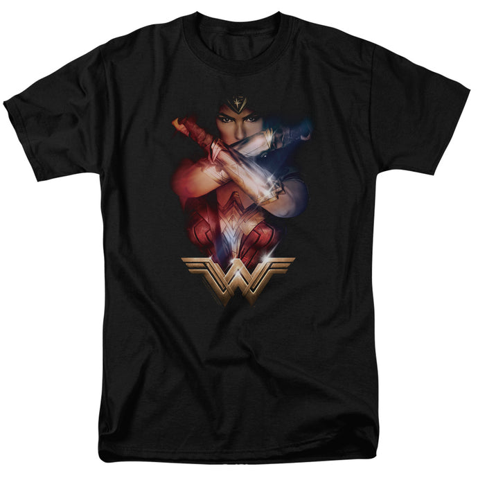 Wonder Woman Movie Arms Crossed Mens T Shirt Black