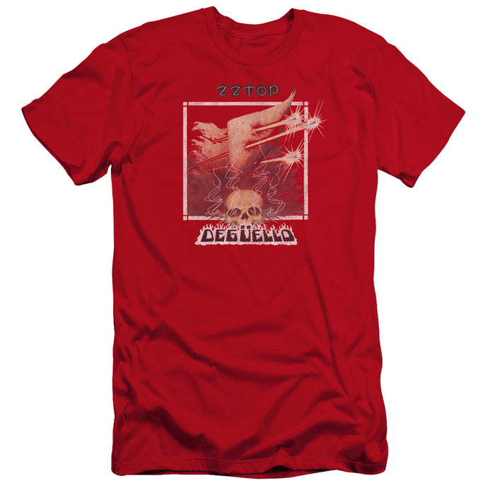 ZZ Top Deguello Cover Premium Bella Canvas Slim Fit Mens T Shirt Red