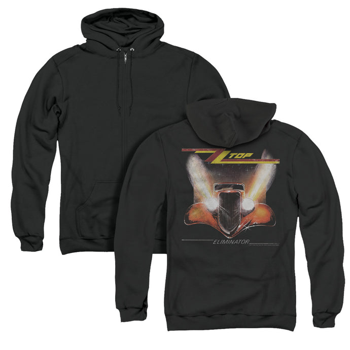 ZZ Top Eliminator Cover Back Print Zipper Mens Hoodie Black