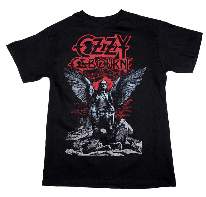 Ozzy Osbourne Angel Wings Mens T Shirt