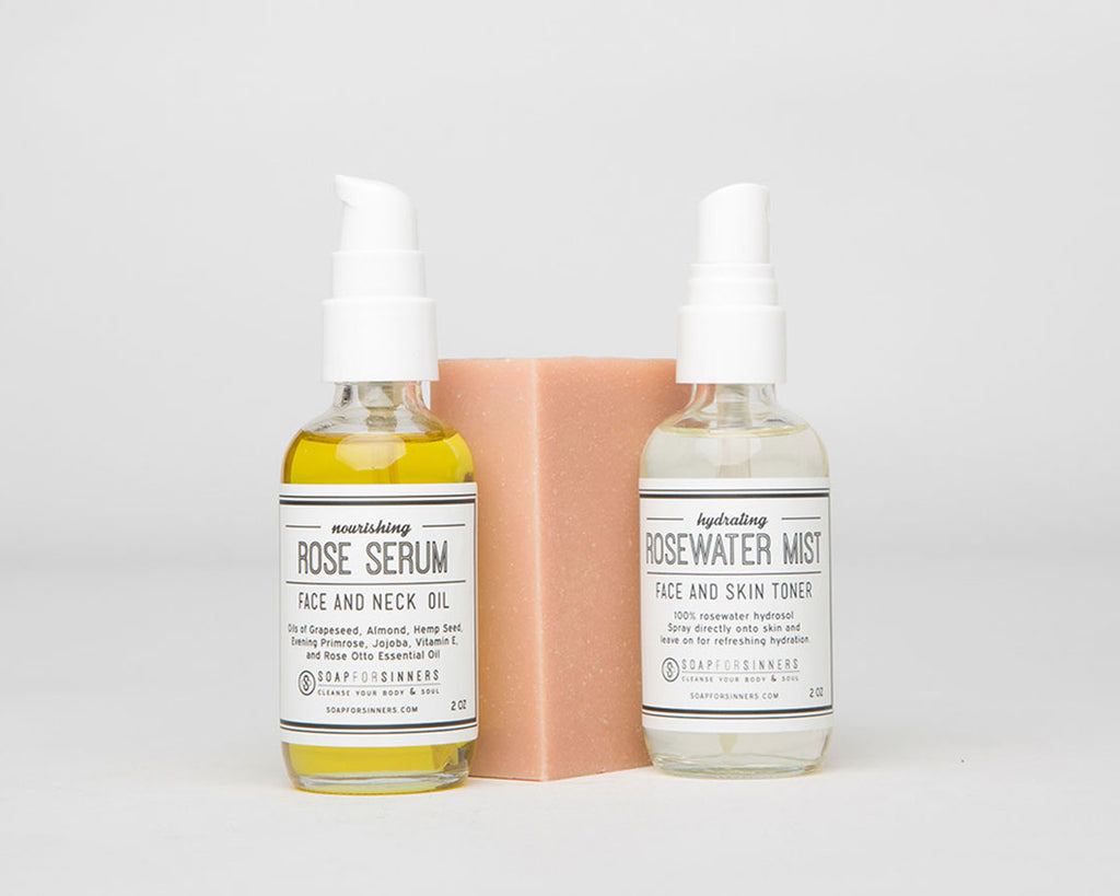 Rose Facial Regiment Step Kit