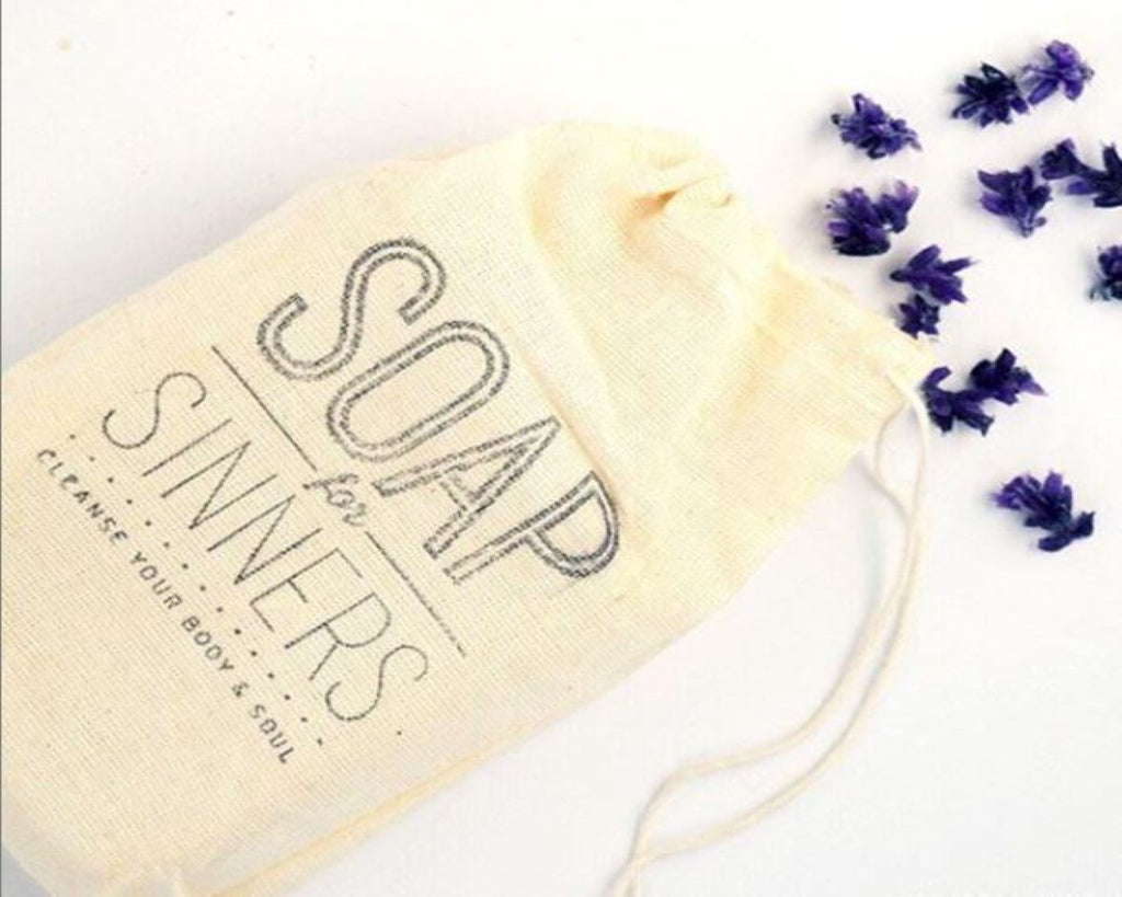 Cotton Muslin Stamped Bag