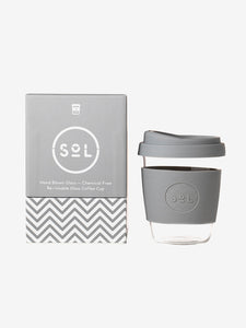 SoL Cups 12oz Reusable Glass Cup - Cool Grey