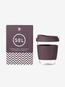 SoL Cups 12oz Reusable Glass Cup - Mystic Mauve