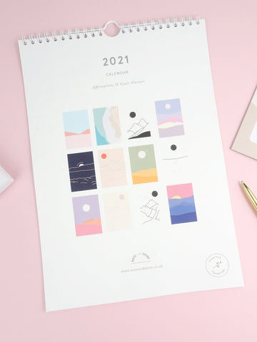 Note and Shine 2021 A4 Calendar - Affirmations & Goals
