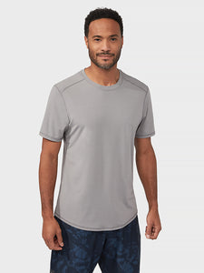 Manduka Tech Short Sleeve Tee - Silver Filigree