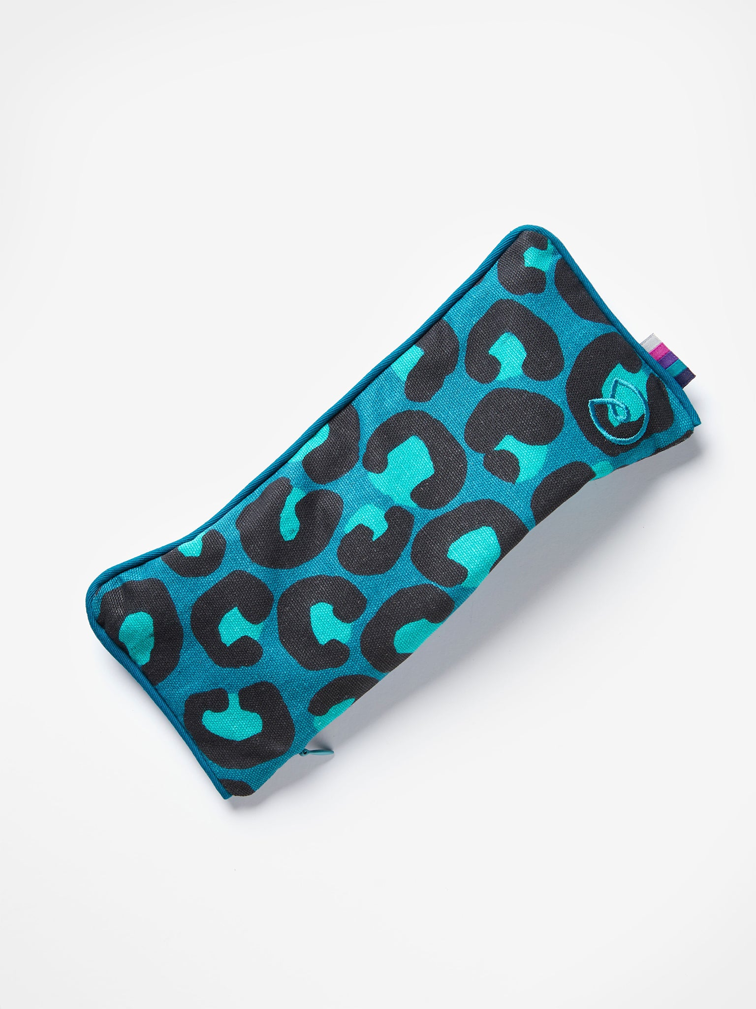Yogamatters Leopard Print Eye Pillow - Ocean Green