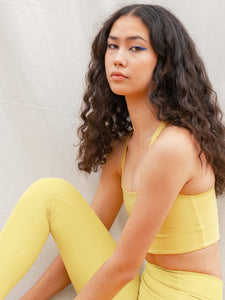 Girlfriend Collective Paloma Bra - Chartreuse
