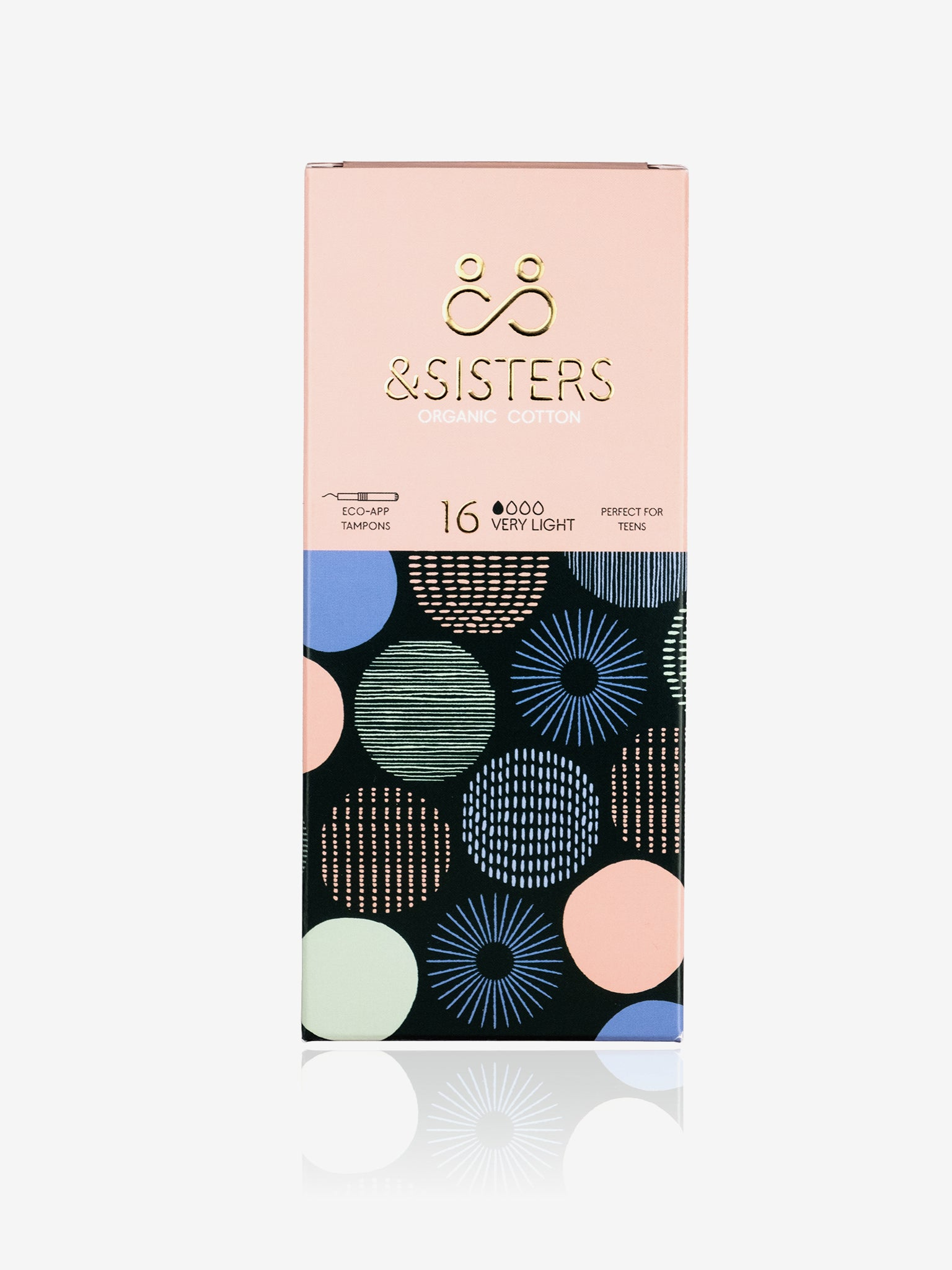 &Sisters Organic Cotton Eco-Applicator Tampons x 16 - Very Light