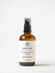 Yogamatters Funky Yogi Room Spray - Rosemary, Lavender + Citrus Blend