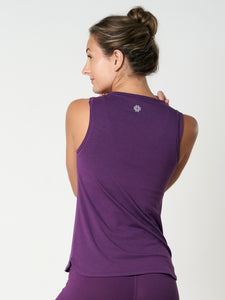 Gossypium Freedom Yoga Vest - Grape