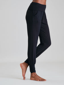 Asquith Long Harem Pants - Black
