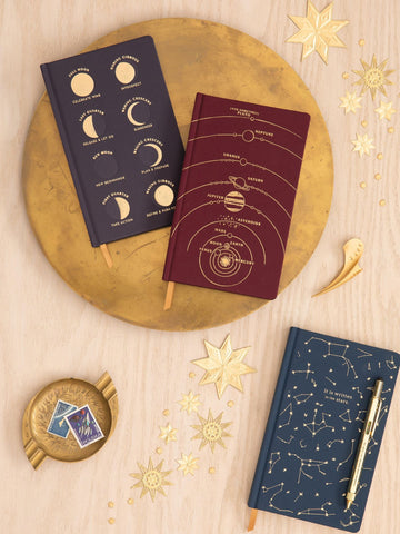 Moon Phases Cloth Journal - Dusk