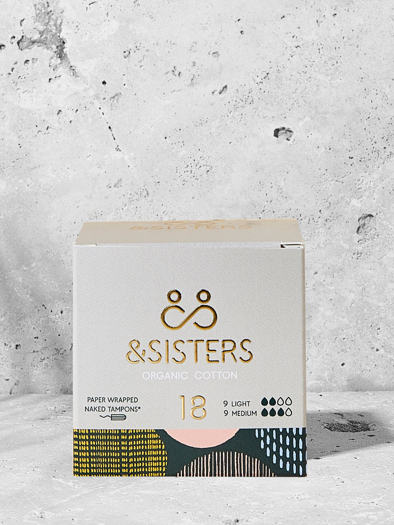 &Sisters Organic Cotton Naked Tampons x 18 - Mixed