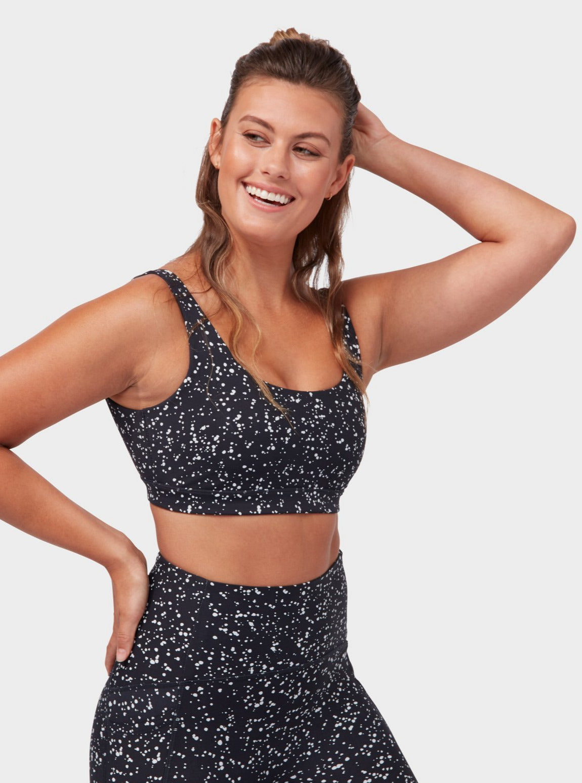 Manduka Presence Bra - Mini Dot Black
