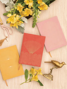 Radiant Rainbow Cloth Journal - Dusty Pink