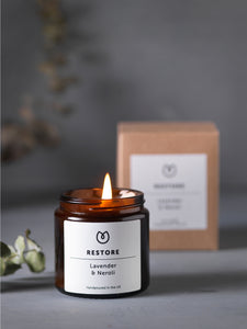 Yogamatters Restore Soy Wax Candle - Lavender & Neroli