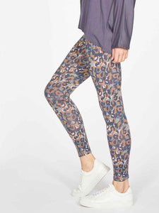 Thought Madelyn Printed Leggings - Mid Blue