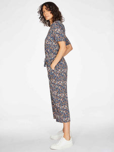 Thought Madelyn Printed Jersey Jumpsuit - Mid Blue