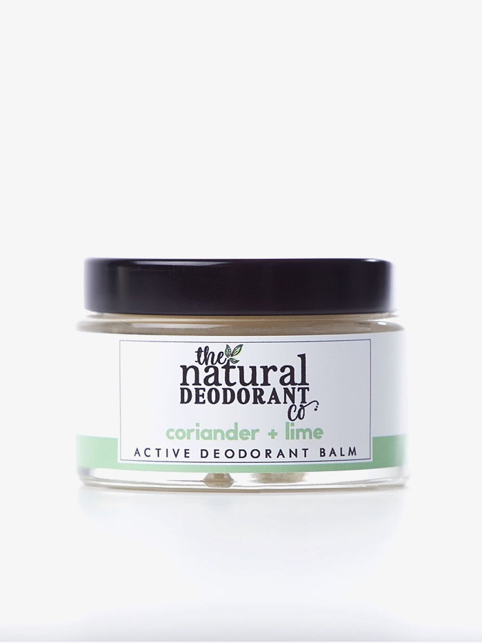 Natural Deodorant Co 55g Active Deodorant Balm  - Coriander + Lime