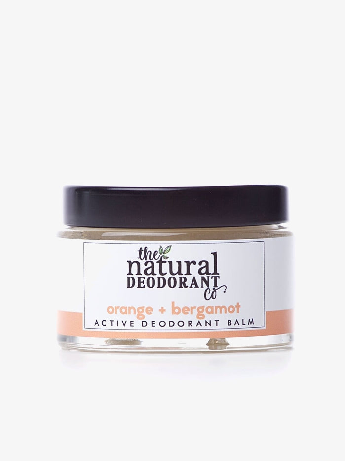 Natural Deodorant Co 55g Active Deodorant Balm - Orange + Bergamot