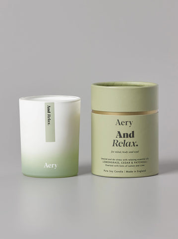 Aery Aromatherapy Candle - And Relax