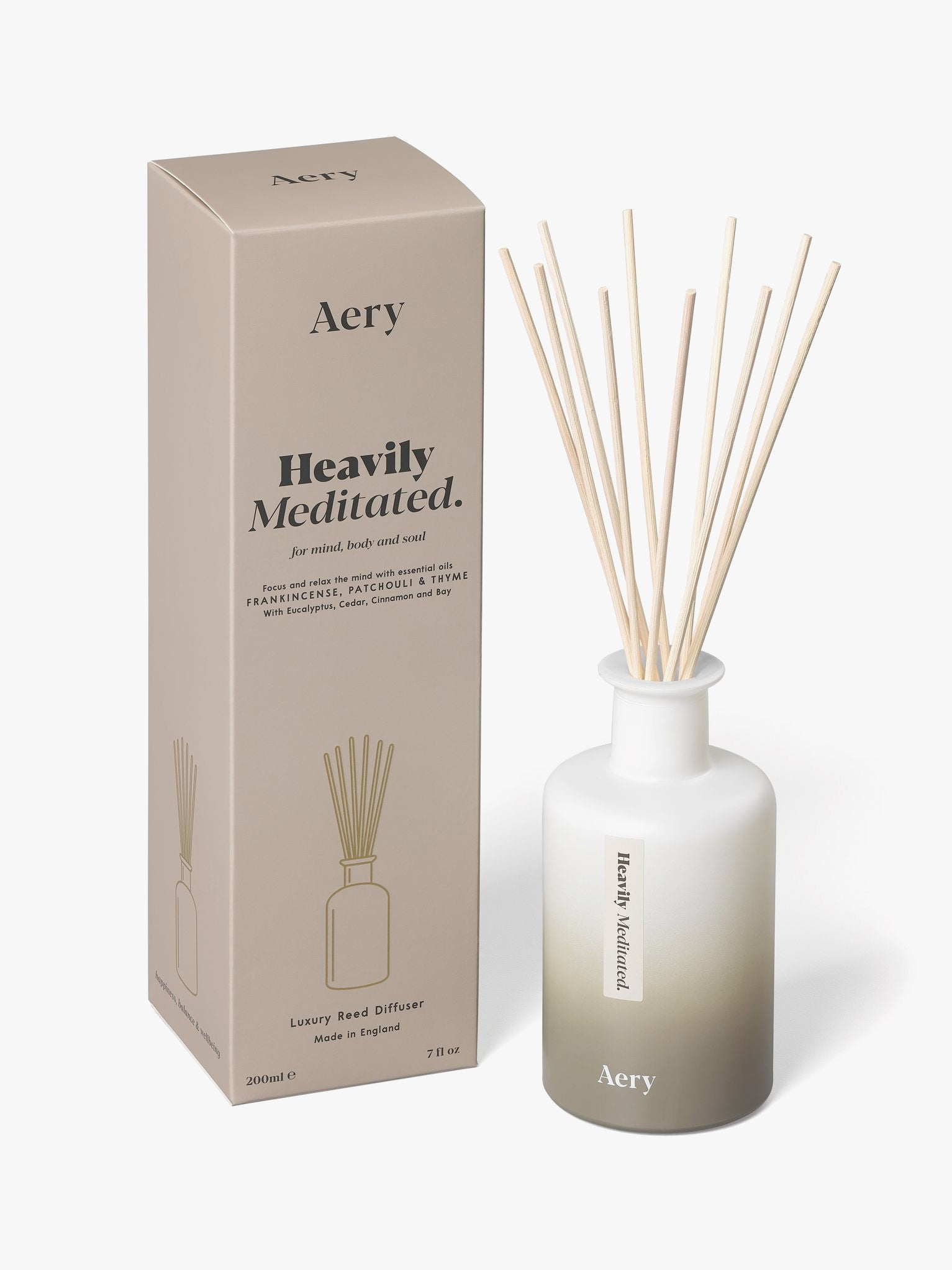 Aery Aromatherapy Reed Diffuser - Heavily Meditated
