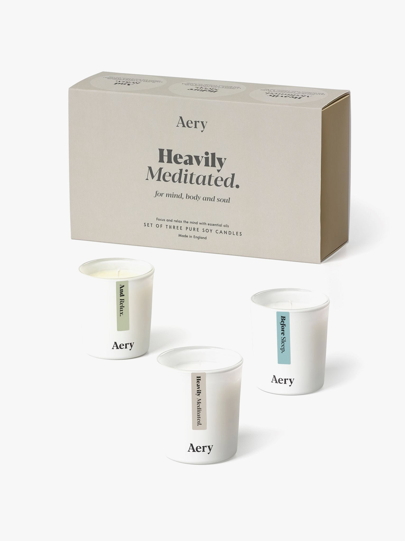 Aery Heavily Meditated Votive Candle Gift Set