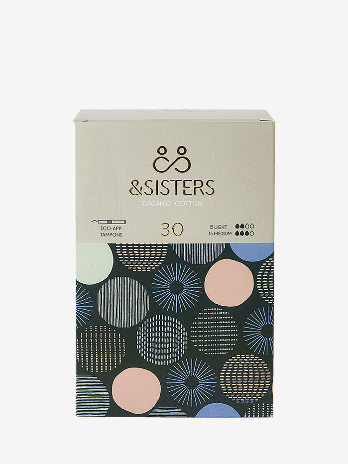 &Sisters Organic Cotton Eco-Applicator Tampons x 30- Mixed